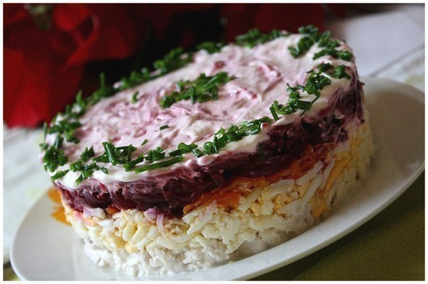 """салат с мясом """"мой генерал"""""""