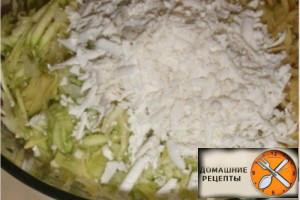 Котлеты из кабачков и картофеля.
