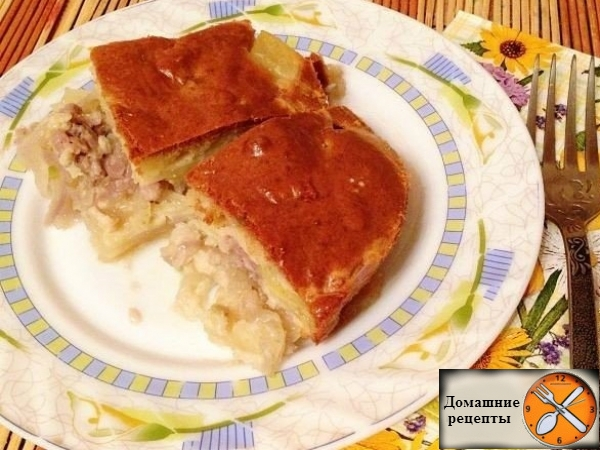 Быстрый мясной пирог
