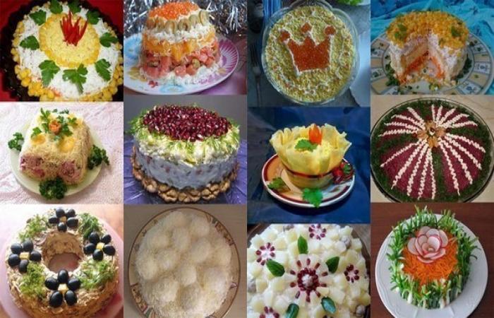 Подборка из 12 самых-самых новогодних салатов!