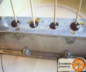 Домашние петушки на палочке