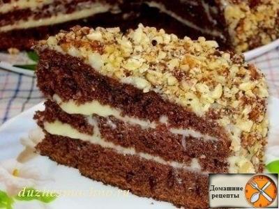 "Шоколадный торт на кефире ""Фантастика"""