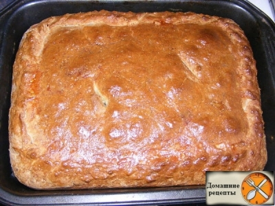 Капустно-мясной пирог