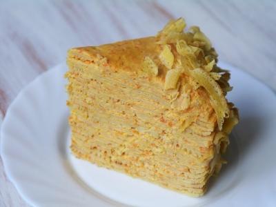 Блинный закусочный торт с муссом из лосося