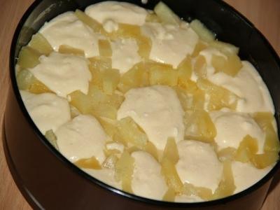 Творожный пирог с ананасами