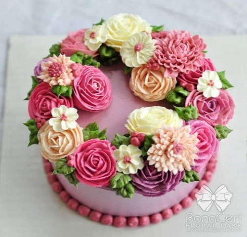 Изумительные цветочные тортики!