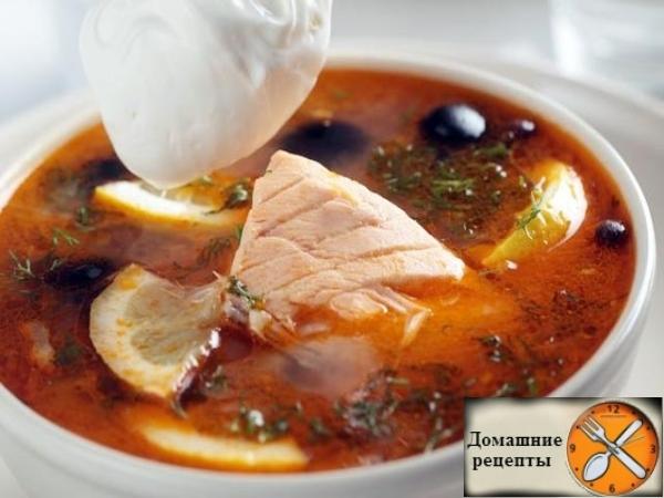 Рыбная солянка