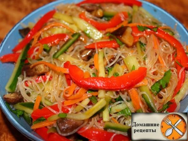 Фунчоза с овощами — лучшие рецепты
