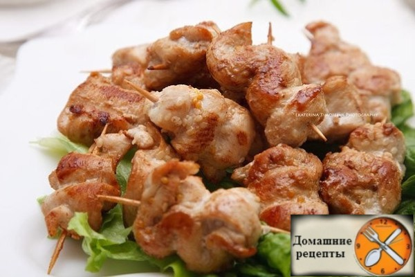 Куриные шашлычки в горчично-медовом маринаде
