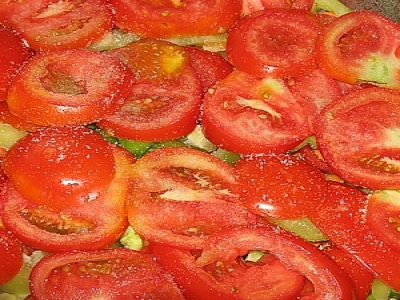 Узбекская домляма, помидоры
