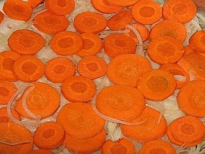 Узбекская домляма, морковь