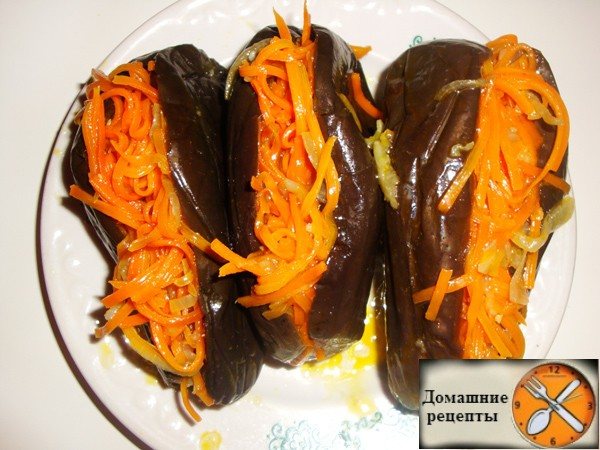 Баклажаны с морковью на зиму