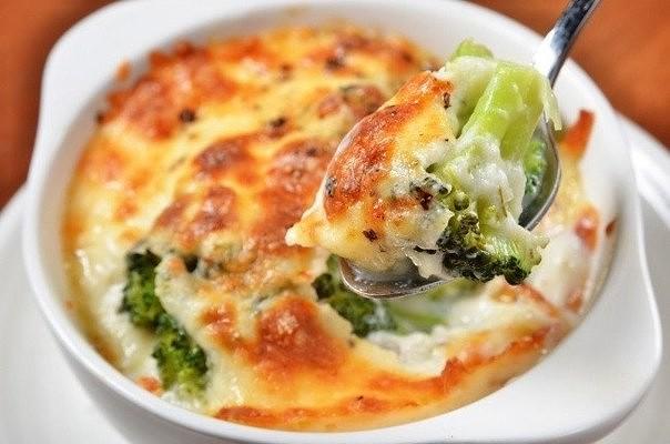 Запеканка с брокколи и сыром