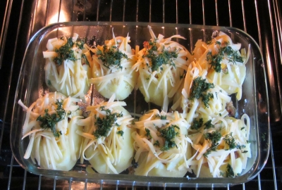 Картошка фаршированная фаршем в духовке5