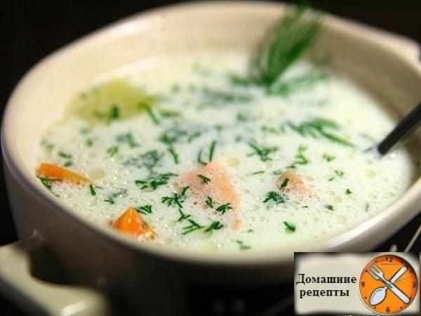 Сливочный суп с лососем (lohikeitto)