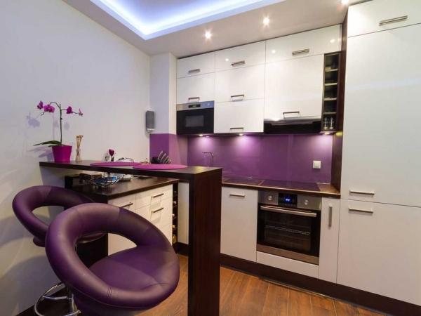 Барная стойка в интерьере кухни 1