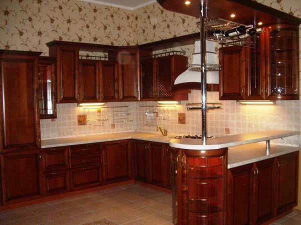 Барная стойка в интерьере кухни 10