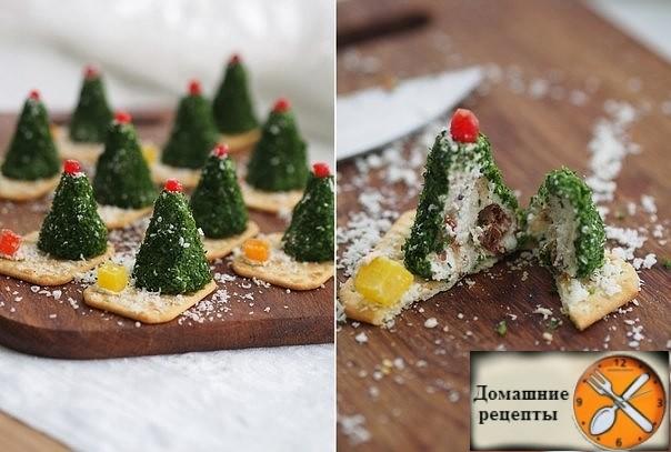 Сырные елочки к праздничному столу