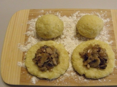 Зразы картофельные с грибами 6