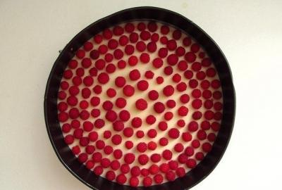 Творожно-малиновый торт 6