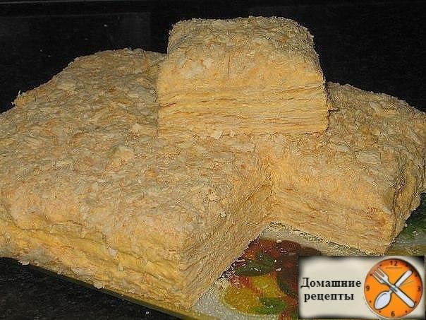 "Торт ""Наполеон"" из быстрого теста на сметане"