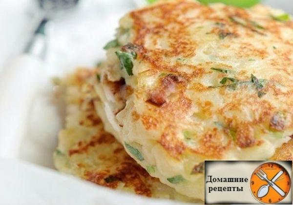 Нежные картофельные оладьи с сыром