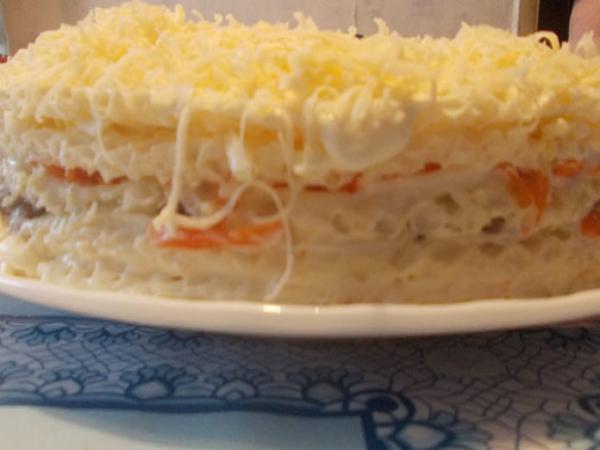 Селедочный торт