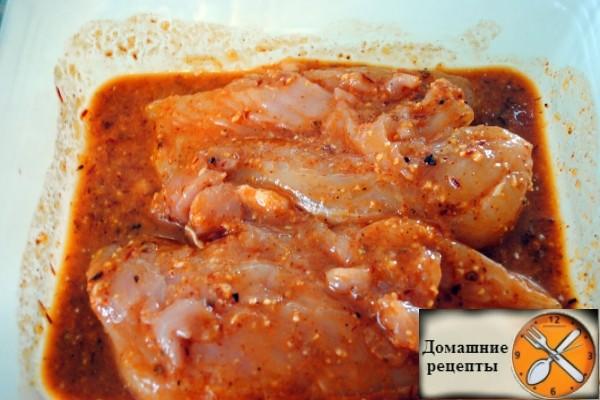 Курица в маринаде. дом рецепты