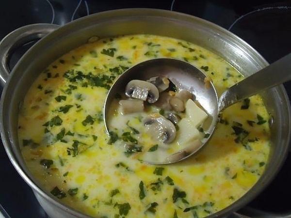 1. Суп из шампиньонов