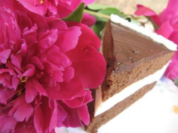 Шоколадный торт с сырно-сливочным суфле  10