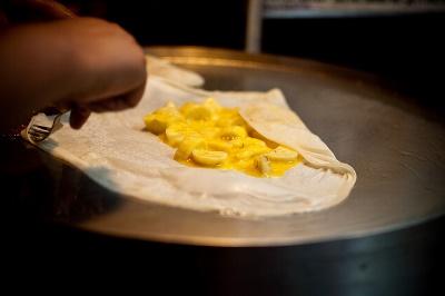 Тайские блинчики с бананом