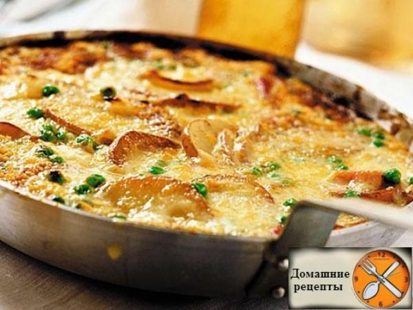 Картофельный омлет с грибами дом. рецепты