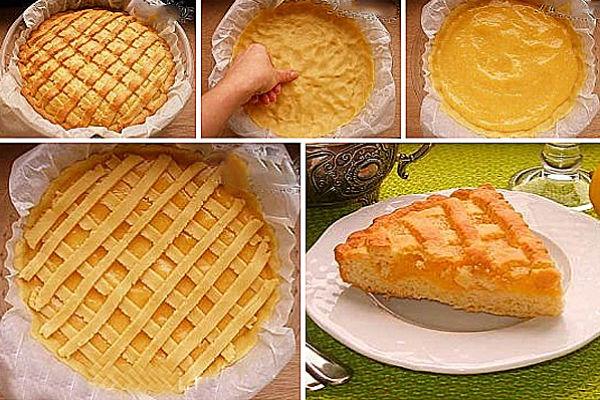 Песочный лимонный пирог. дом. рецепты