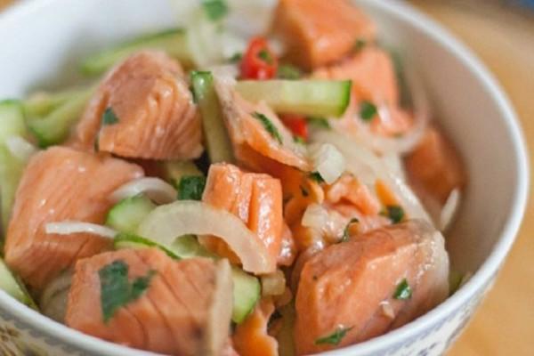Салат из рыбы по-корейски. дом. рецепты