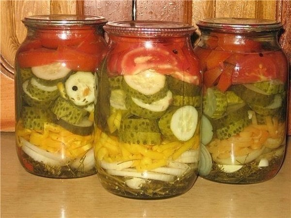 Летний салат на зиму