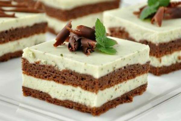 Шоколадный торт с мятно-сливочным кремом 1