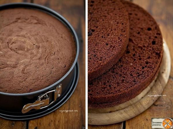 Генуэзский шоколадный бисквит. дом. рецепты (3)