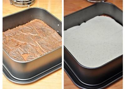 Шоколадный торт с мятно-сливочным кремом 5