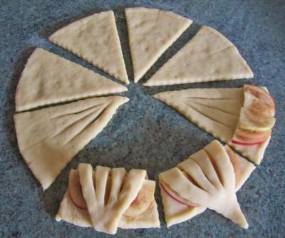 Конвертики с яблоками 4
