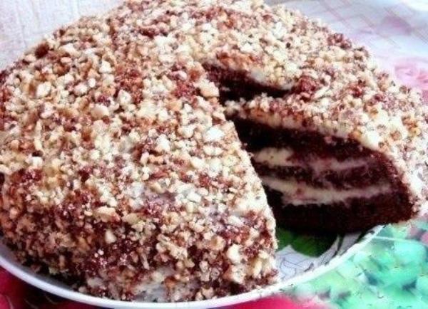 Рецепт шоколадного торта на кефире