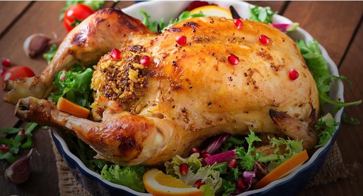 Курица, фаршированная рисом — роскошное блюдо!